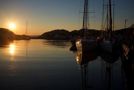 Kveld i havna
