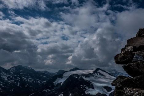 Utsikt fra Kyrkja 2032 moh